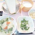 Photos: 12月5日朝食(ロールキャベツのクリーム煮) #病院食