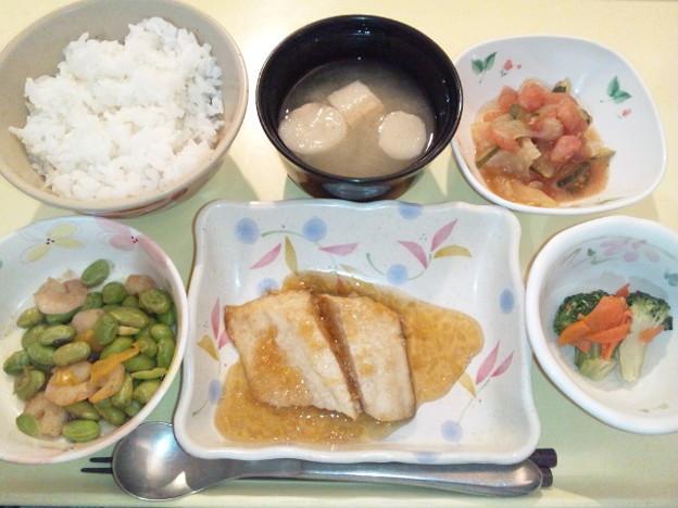 12月5日夕食(鰆の葱醤油がけ) #病院食