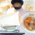 1月14日朝食(魚河岸揚げと冬瓜の煮物) #病院食