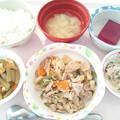 1月14日昼食(豚肉と野菜の炒め物) #病院食