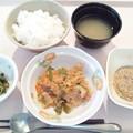 1月15日朝食(鮭フレークと野菜の炒め物) #病院食