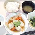 1月17日朝食(やわらかつみれの煮物) #病院食