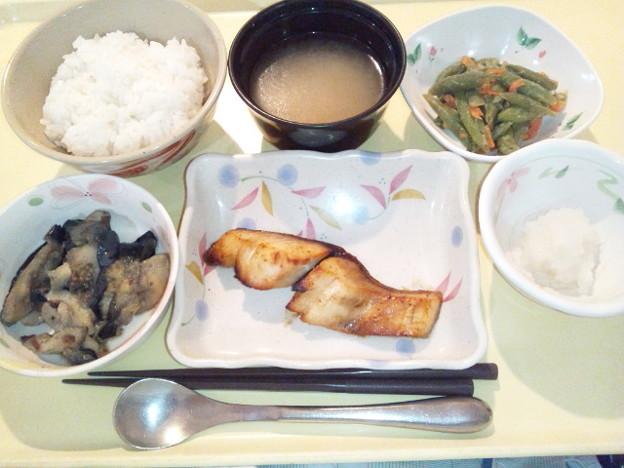 1月17日夕食(めだいの七味焼き) #病院食
