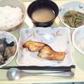 Photos: 1月17日夕食(めだいの七味焼き) #病院食
