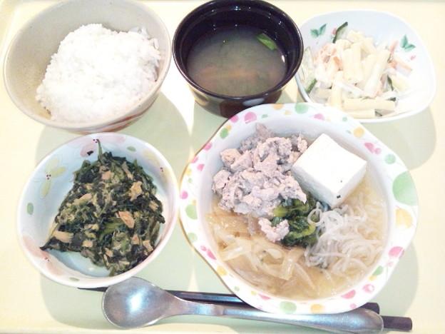 1月18日夕食(肉豆腐) #病院食