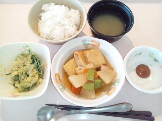 1月19日朝食(肉詰めいなりの煮物) #病院食
