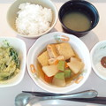 Photos: 1月19日朝食(肉詰めいなりの煮物) #病院食
