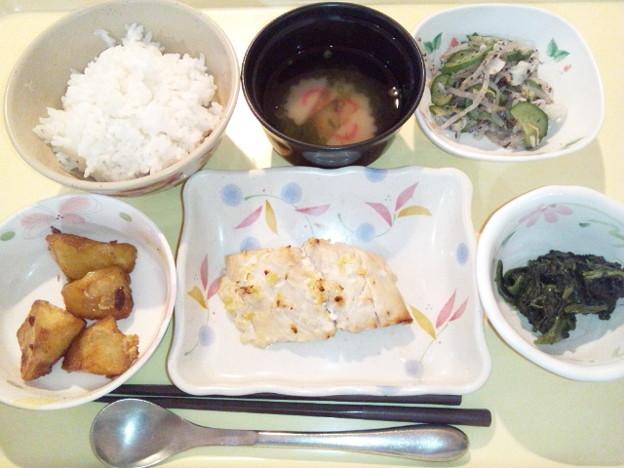 1月19日夕食(鰆の胡麻味噌焼き) #病院食