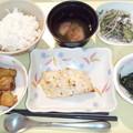 Photos: 1月19日夕食(鰆の胡麻味噌焼き) #病院食
