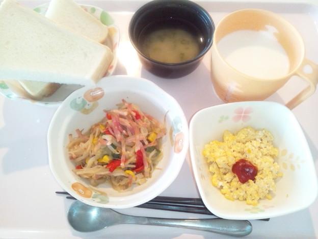 1月20日朝食(野菜とベーコンのソテー) #病院食
