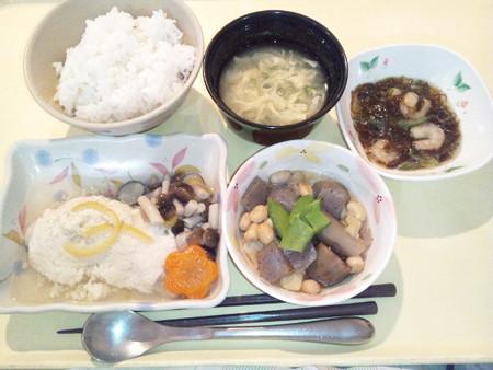 1月21日夕食(タラのかぶら蒸し風) #病院食