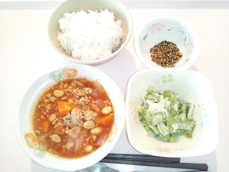 1月22日朝食(チリコンカン) #病院食