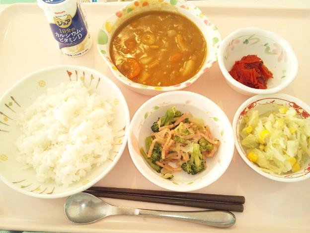 1月22日昼食(シーフードカレー) #病院食