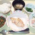 1月22日夕食(鶏の塩麹焼き) #病院食