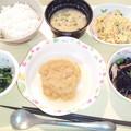 Photos: 1月24日夕食(和風おろしハンバーグ) #病院食