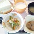 Photos: 1月25日朝食(ベーコンと野菜の炒め物) #病院食
