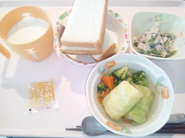 1月27日朝食(ロールキャベツ) #病院食