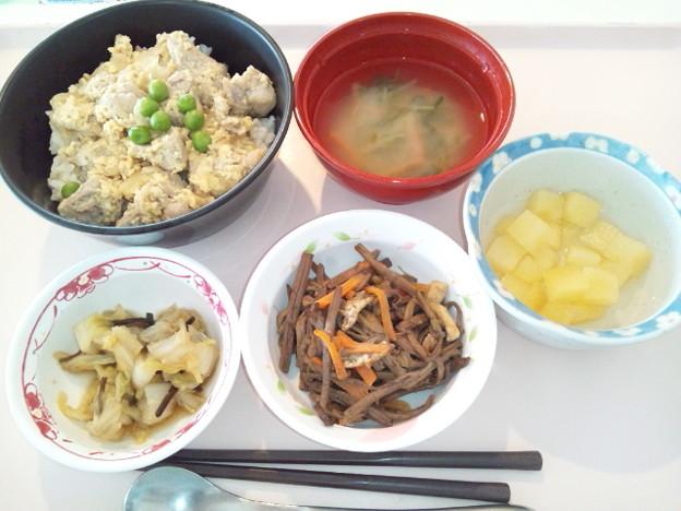 1月27日昼食(親子丼) #病院食