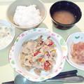 1月28日夕食(豚肉のオイスター炒め) #病院食