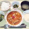 Photos: 2月21日夕食(豚肉のトマト煮) #病院食