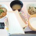 Photos: 2月22日朝食(厚揚げの煮物) #病院食