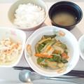 Photos: 2月23日朝食(さつま揚げの炒め物) #病院食