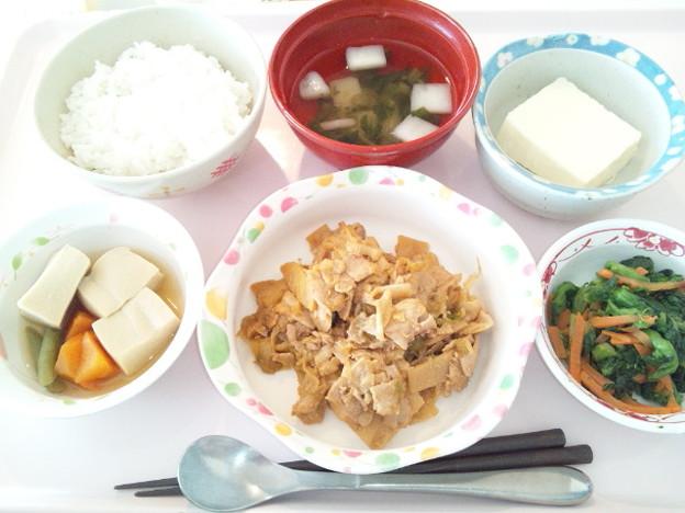 2月23日昼食(豚肉とキャベツの味噌炒め) #病院食