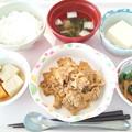 Photos: 2月23日昼食(豚肉とキャベツの味噌炒め) #病院食