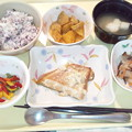 Photos: 2月23日夕食(カレイの薬味焼き・ゆかり御飯) #病院食