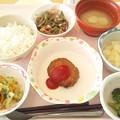 2月24日昼食(ハンバーグ) #病院食
