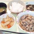 2月24日夕食(鶏肉と蓮根の炒め物) #病院食
