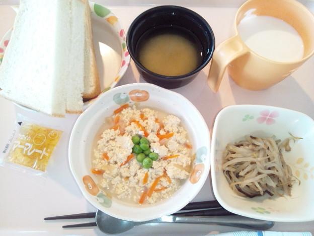 Photos: 2月25日朝食(炒り豆腐) #病院食