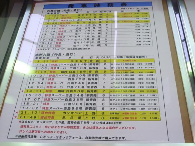 函館駅発車時刻表