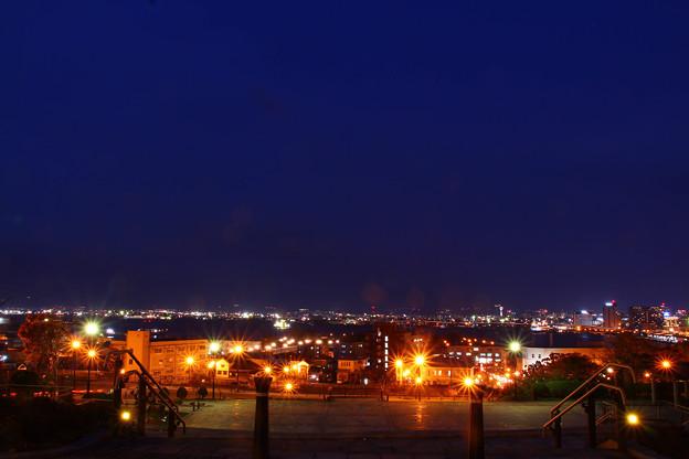 【元町公園から見る綺麗な夜景】