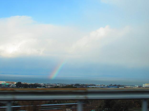 海からの初虹