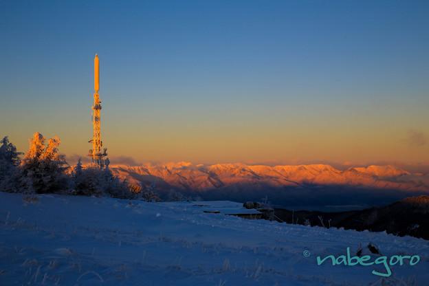 美ヶ原高原の朝焼け絶景