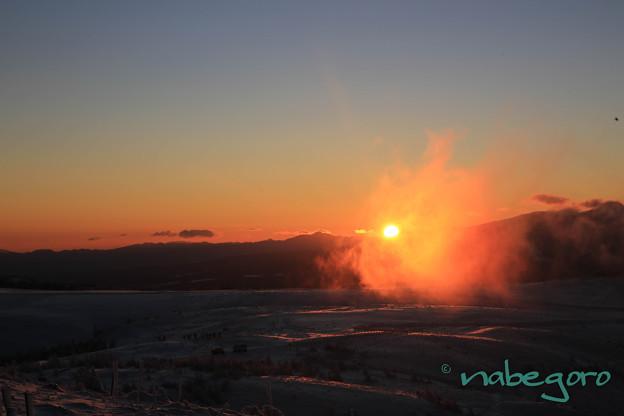 美ヶ原高原の日の出-2