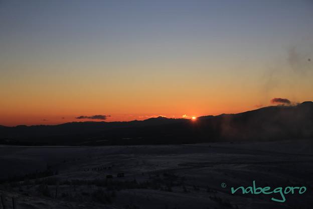 美ヶ原高原の日の出