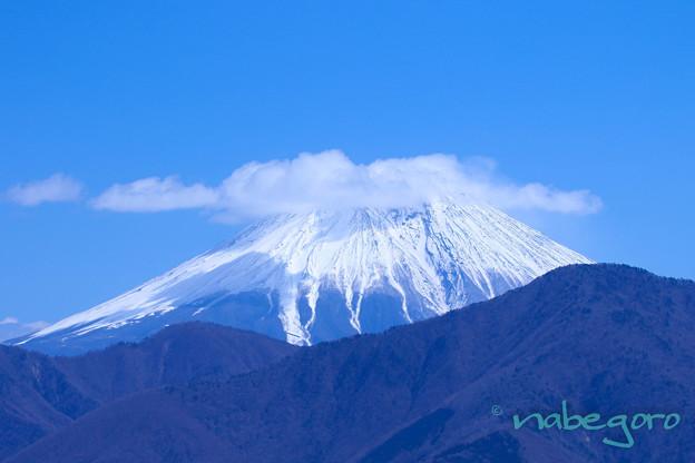 身延山から望む富士山