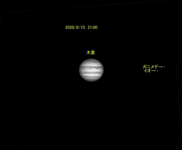 8月15日 21:00 木星