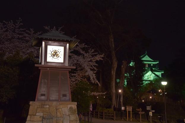 時計台と岡崎城
