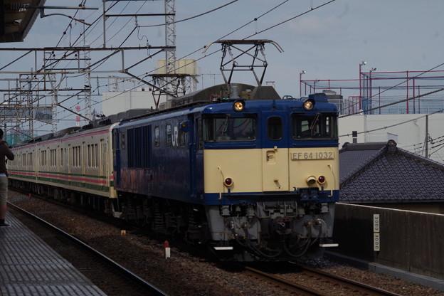 EF64 1032+107系R編成3編成 (1)