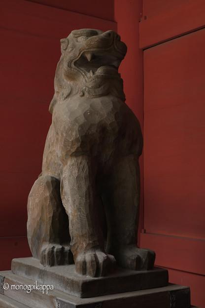 写真: 07_1木製の狛犬-3792