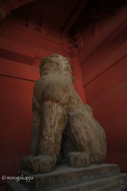 写真: 07_2木製の狛犬_きりっ!-3807