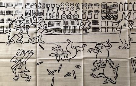 鳥獣戯画文具絵巻 左