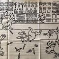 写真: 鳥獣戯画文具絵巻 左