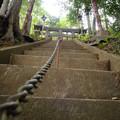 朝日稲荷神社_11ここから急な階段の方を登る-9184
