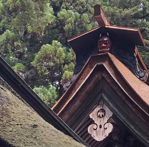 武田八幡宮 本殿の鬼