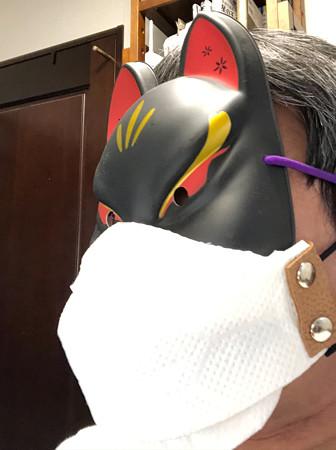 キッチンペーパーでマスク