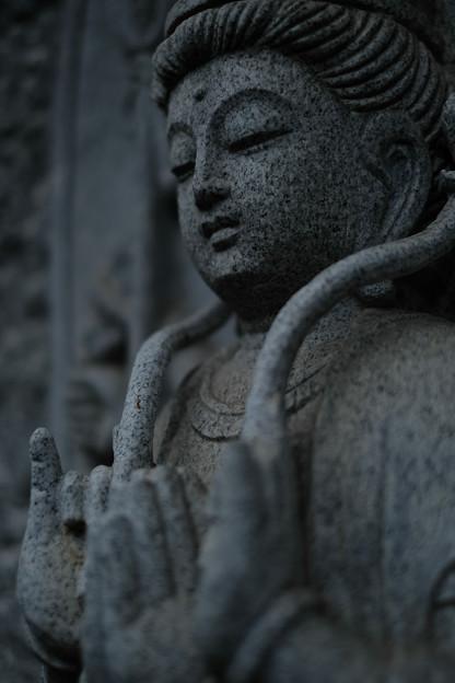 大悲願寺 優しいお顔の石仏-1540